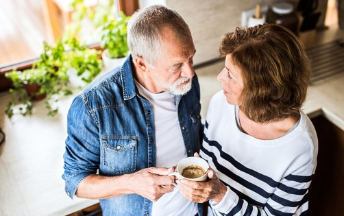 Couple talkng about hearing loss