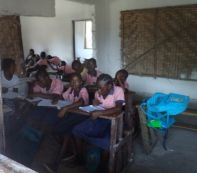 Kids in class in the main school building