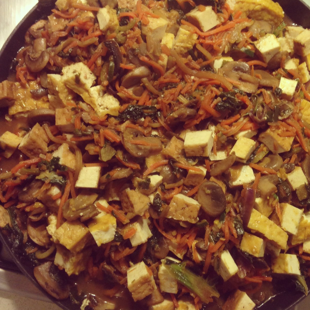 vegetable stir-fry with tofu