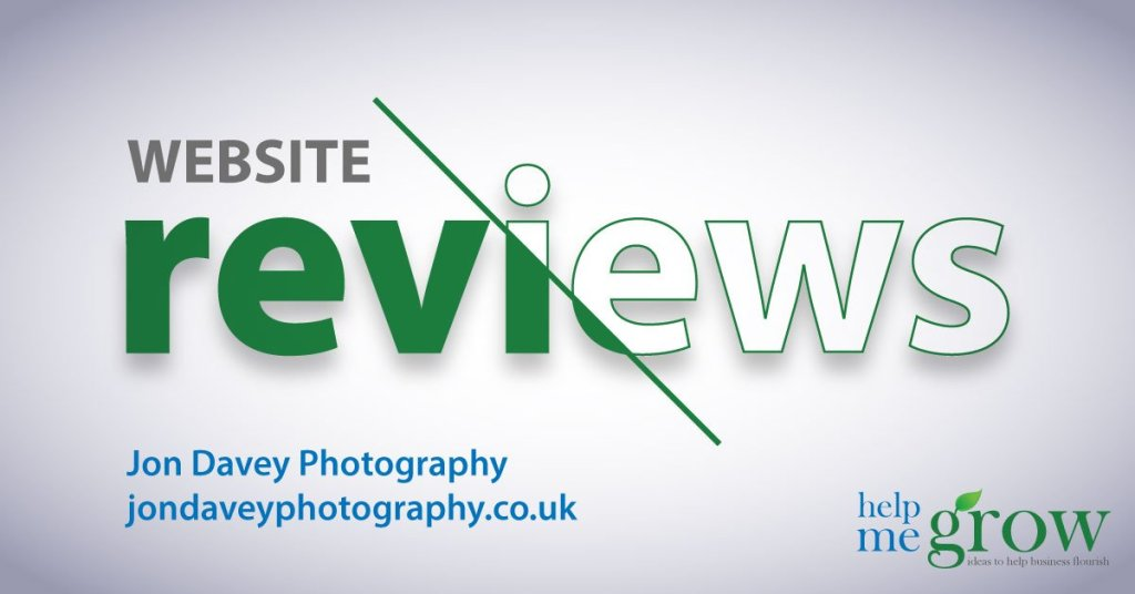 jondaveyphotography.co.uk website review