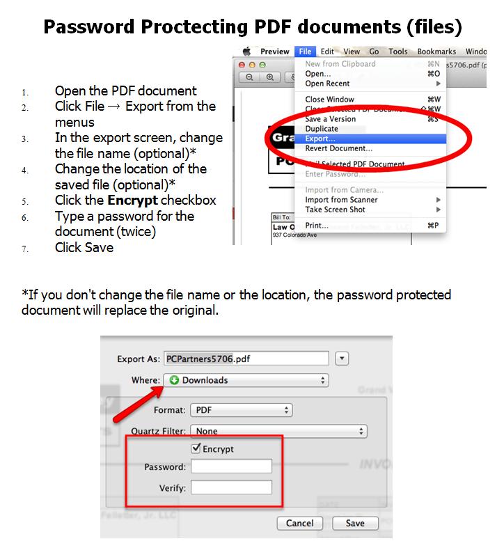 add password to pdf mac