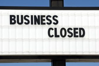 business shutting down