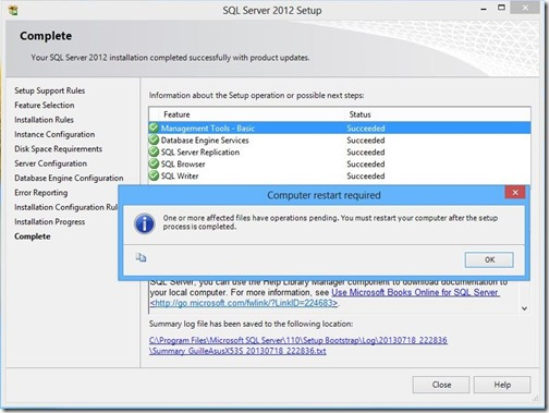 Instalar SQL Server Management Studio 2012 – #HelpMBP