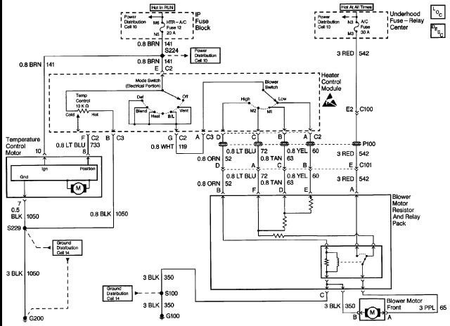 Wiring Diagram For Front/rear Air Conditioner? Air Not