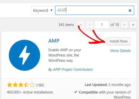 install amp wordpress plugin.