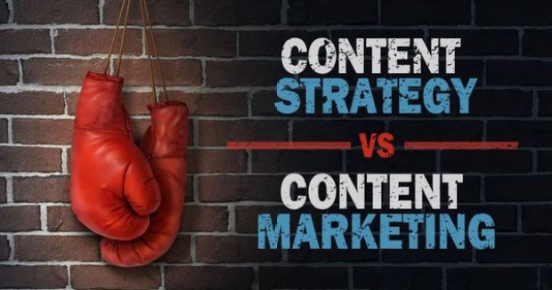 difference between content strategy and content marketing