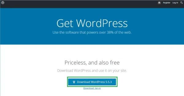 get wordpress from wordpress.org