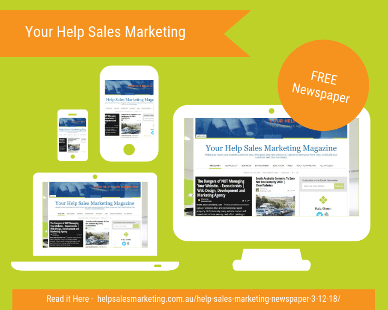 Your Help Sales Marketing Advertising for December 2018
