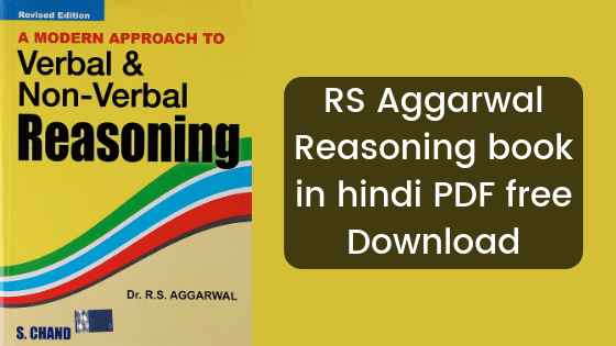 Download RS Aggarwal Reasoning PDF Book In Hindi [2019