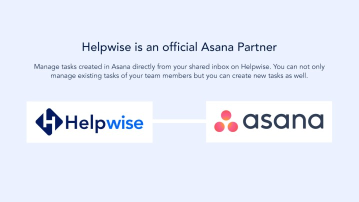 shared inbox,shared emailbox, shared mailbox, shared email, Helpwise joins Asana Partners