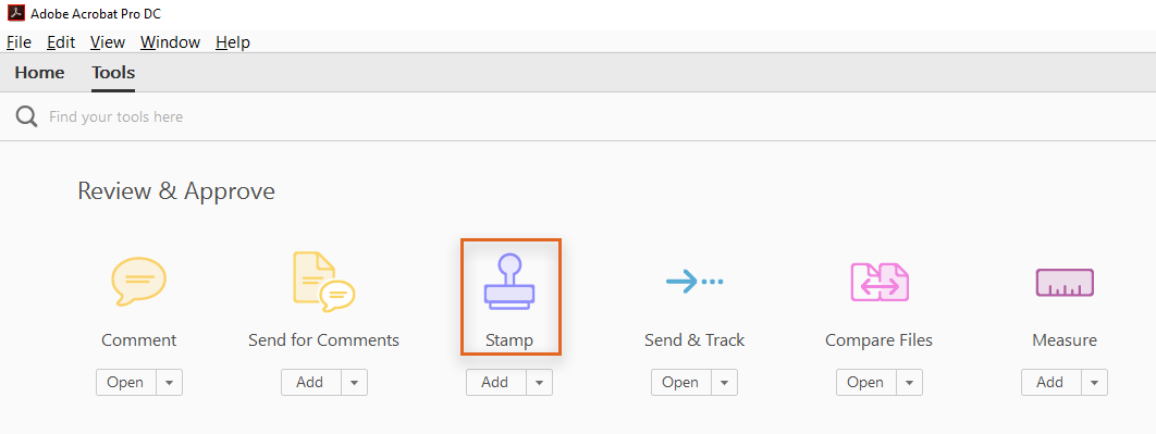 Create a custom dynamic stamp using Acrobat DC