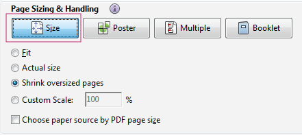 basic pdf printing tasks