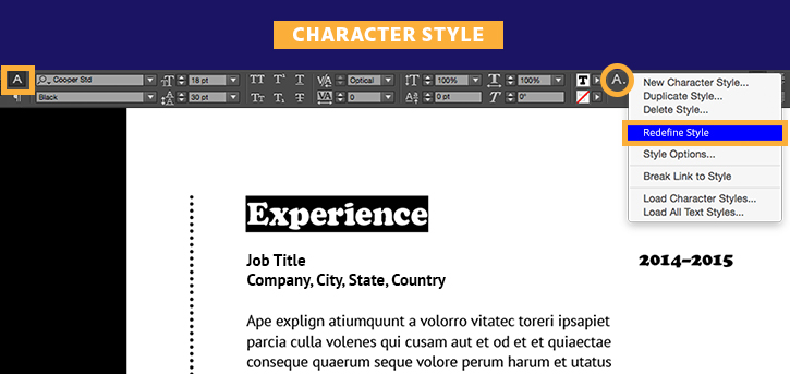 Create a professional resume | Adobe InDesign CC tutorials