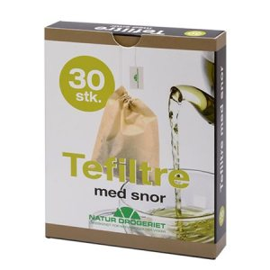 Tefiltre med snor Engangsfilter, ubleget