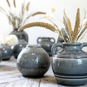 Alsace Vase m. stribet mønster