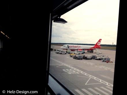 Auch das Flugzeug wartet