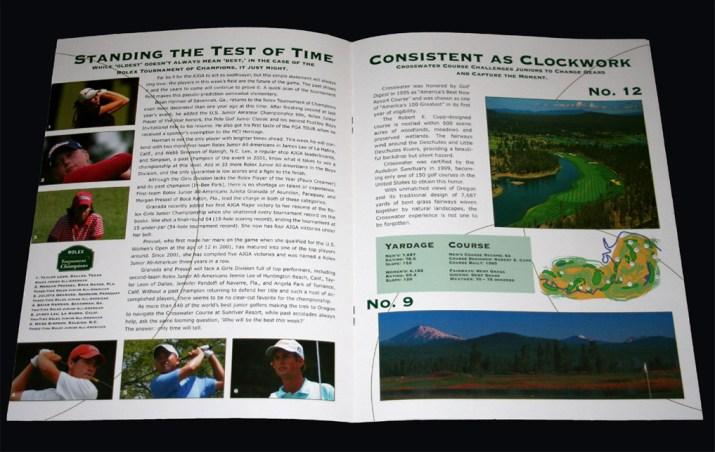Rolex Tournament Brochure Interior