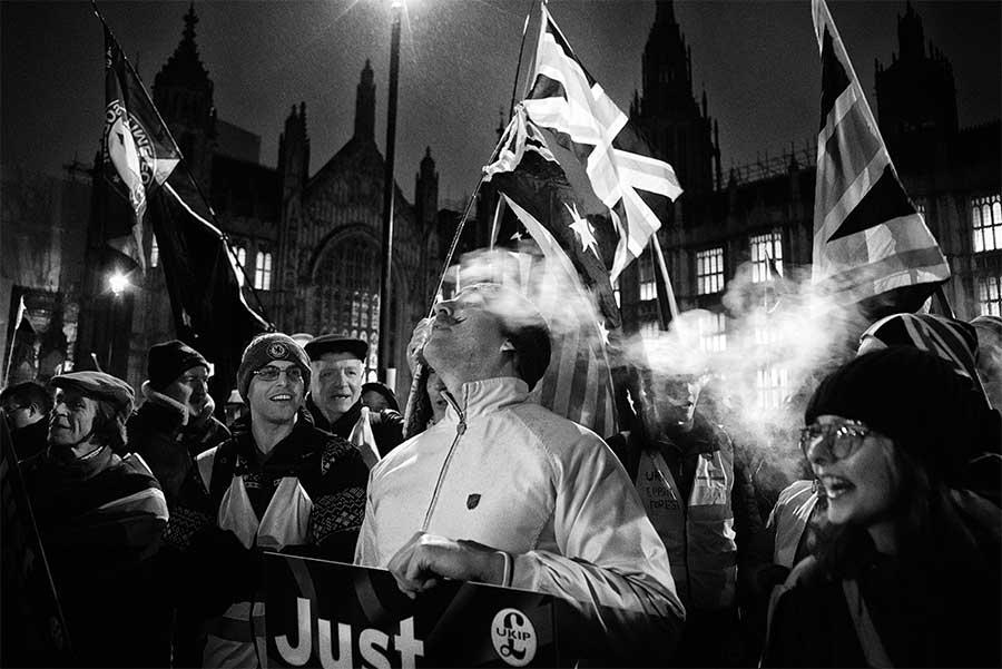 From Winthdrawal Agreement Vote protest, London, UK, 2019 by David Sladek