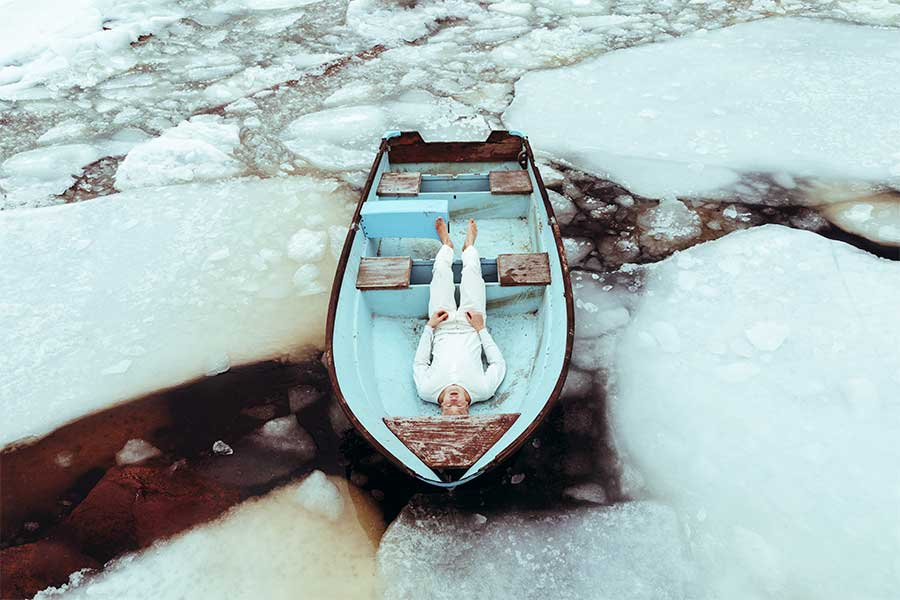 As if the ice kept me still from the series Natural outlaw by Svante Gullichsen