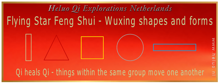 Chinese Flying Star Feng Shui Wuxing 5 Elements shapes and forms - Heluo Hill