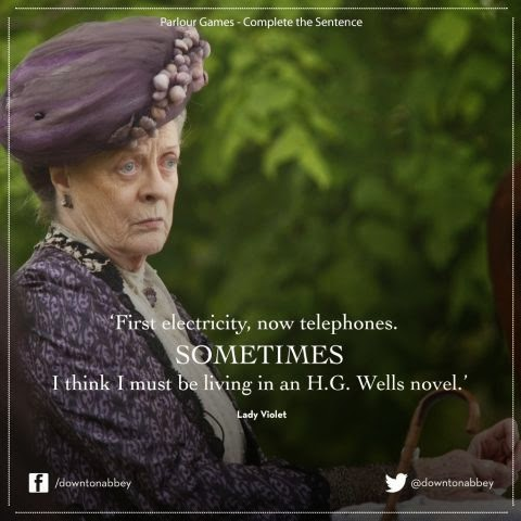 Dowager Countess from Downtown Abbey