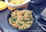 Mushroom Methi Brown Rice
