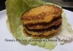 Cabbage And Channa Cutlet
