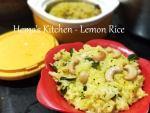 Lemon Rice / Elumichampalam Sadam