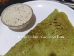 Cucumber / Vellarikkai Dosa