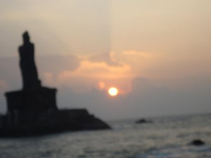 Sunraise at Kanyakumari on 13th November, 2011