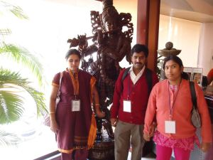 HemaVasu with Kameshwari at the TVM Hotel