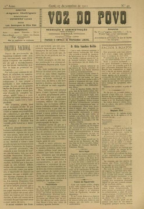 Voz Do Povo Nº42 17 09 1911 P