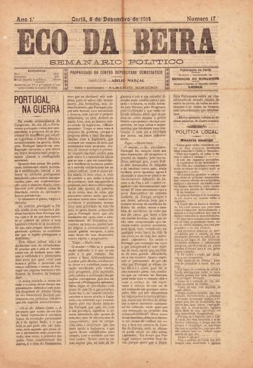 Eco Da Beira Nº17 06 12 1914 P