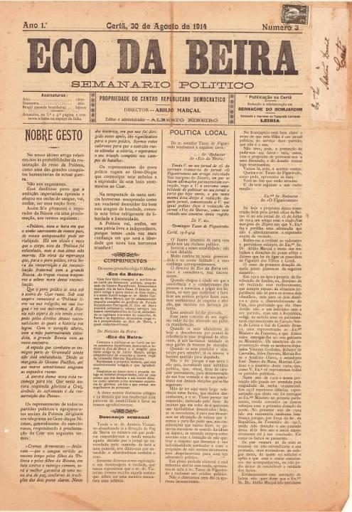 Eco Da Beira Nº3 30 08 1914 P