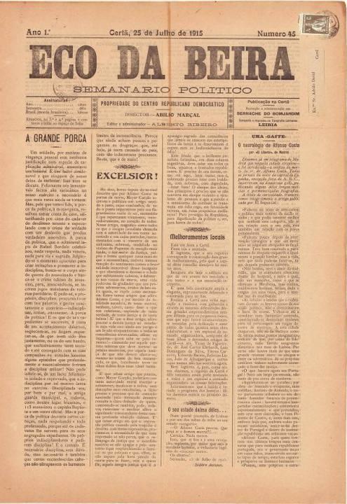 Eco Da Beira Nº45 25 07 1915 P