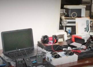 Vue d'ensemble du matériel offert à la presse parlementaire © Parlement centrafricain / HA