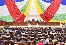 Assemblée nationale de la Centrafrique © Corbeau News Centrafrique/ HA