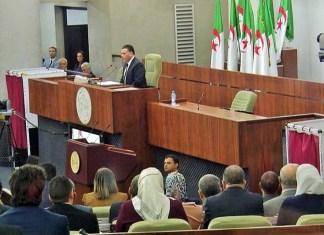 Assemblée populaire nationale de l'Algérie lors de la lecture de la lettre de démission du président Mouad Bouchared © France 20 / HA