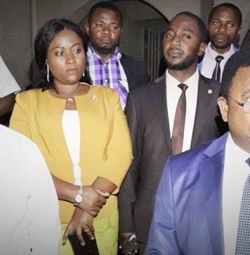 Le président de l'Assemblée provinciale et le directeur de l'ICCN à la fin de leur audience © François M / HA