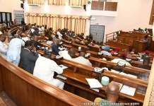 Les députés de la 8ème législature du parlement béninois lors de la clôture des travaux de la 1ère session ordinaire de l'Assemblée nationale © Assemblée nationale