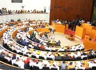 Les députés en plénière à l'Assemblée nationale du Sénégal © DakarActu/ HA