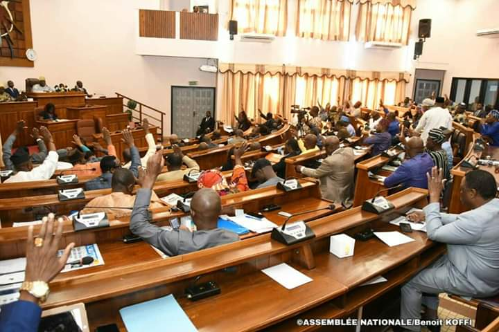 Les députés béninois ce 1er novembre 2019 lors de l'adoption de la Constitution © AN / HA