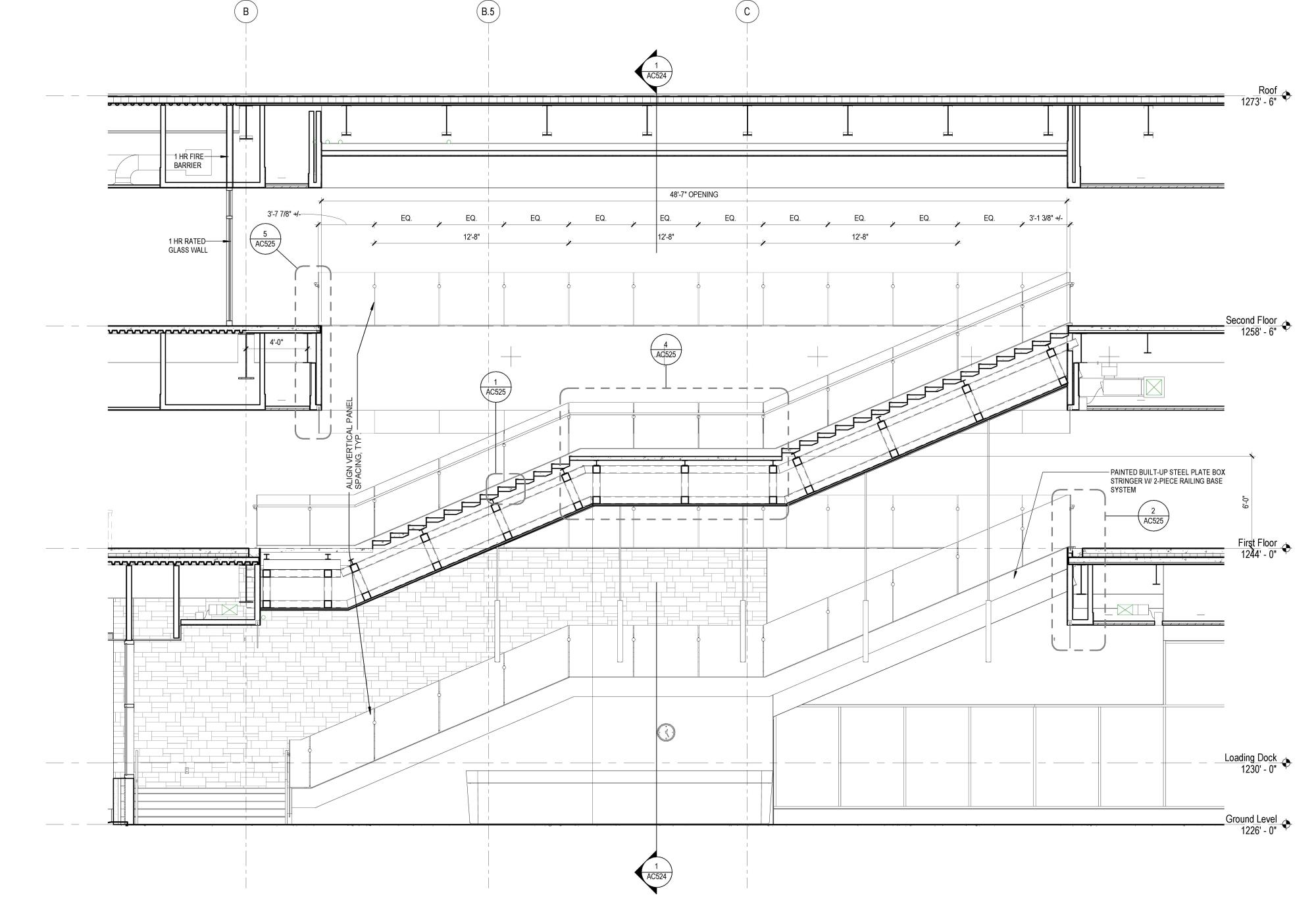 hight resolution of stair section