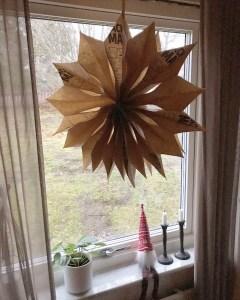 diy julstjärna i papper