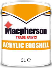 Macpherson Acrylic Eggshell 5l Brill White Magnolia