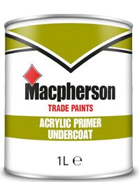 Macpherson Acrylic Primer Undercoat 1L White