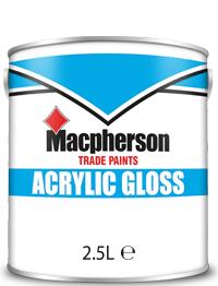 Macpherson Acrylic Gloss 2.5L Brill White Black