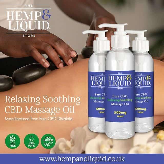 CBD Soothing Massage Oil