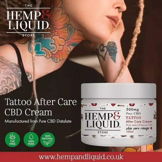 CBD Tattoo After-Care Cream.