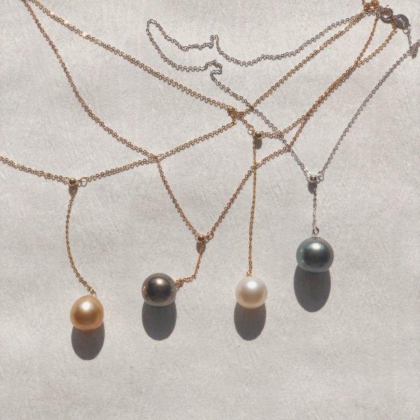 Y-Kette Goldkette verstellbar Perlenkette